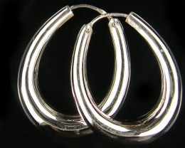 MODERN 30x25 MM LOOP STERLING SILVER EARRING MYT 501