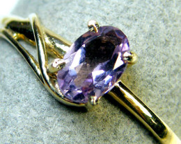 AMETHYST STONE 14K YELLOW GOLD RING SIZE 7.5 MY226
