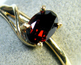 GARNET GEMSTONE 14K YELLOW GOLD RING SIZE 8 MY241