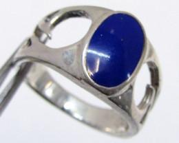 Lapis lazuli in silver Ring size 10 MJA 708