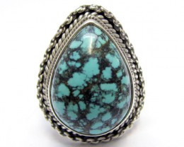Beautiful Turquoise Ring Size 7.5 MJA353v