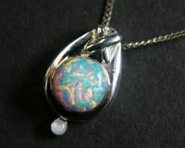 Simulant Jewery NR   OPAL STERLING SILVER PENDANT MYT651