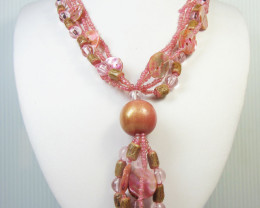 Simulant Jewery R CUTE PINK PEARL SHELL STYLE NECKLACE QT190