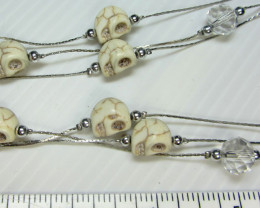 Simulant Jewery NR SKULL NECKLACE WITH MATCHING EARRINGS QT113