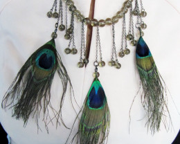 Simulant Jewery NR FASHION PEACOCK FEATHES STYLE NECKLACE QT216