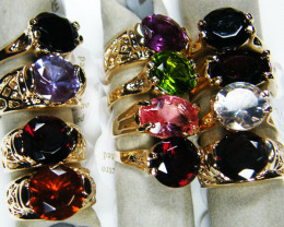 Simulant Jewery NR 12 MIXED MAN MADE GEMSTONE RINGS AAT 748
