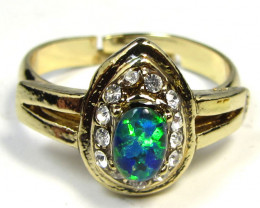 Simulant Jewery NR BRIGHT OPAL RING ADJUSTABLE SIZES CSS 15