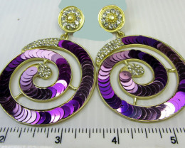 Simulant Jewery NR STUNNING ROUND SEQUINCE EARRINGS QT 139