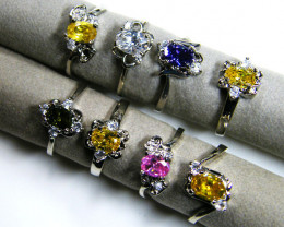RESELLERS DEAL 8MAN MADE GEMSTONE RINGS AAT 797