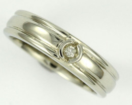 AUSTRALIAN DIAMOND.06 WHITE 18K GOLD RING SIZE 5.5 OP1814