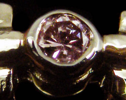ARGYLE PINK DIAMOND 18K WHITE GOLD RING6.5 SIZE OP 1432