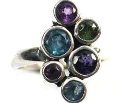ASSORTED GEM STONE 8 RING SIZE 26.35 CTS [SJ1331]
