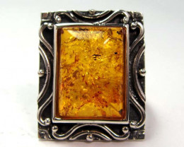 NATURAL BALTIC AMBER RING SIZE 5 MGMG194