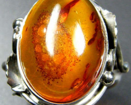LARGE BALTIC AMBER RING SIZE 10.5 MYG1210
