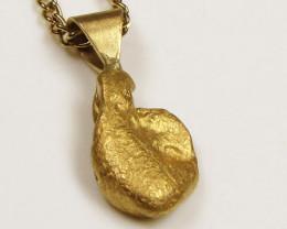AUSTRALIAN GOLD NUGGET PENDANT 2.84 GRAMS LGN 843