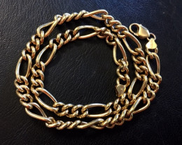 93.2 Grams 9 K  FIGARO GOLD CHAIN 93.20 GRAMS L 427