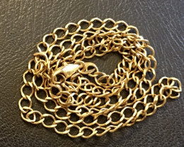 9 K GOLD CHAIN, 50 CM LONG 6.8 GRAMS L321