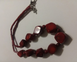 RED JASPER NECKLACE 268 CARAT WEIGHT SPECTACULAR COLOR
