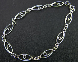 Cable Silver Bracelet
