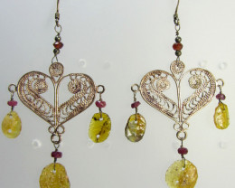 ANCIENT ROMAN GLASS EARRINGS MJA 204