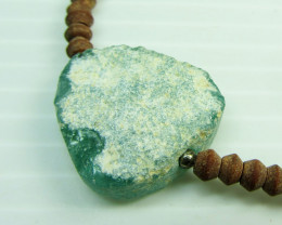 Ancient Roman Glass necklace with Serpentine  MJA 208