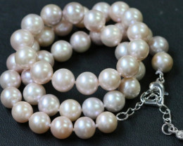 9 mm Palette of Colours natural Pearl necklace PPP196
