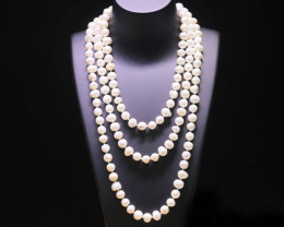 10mm VERY LONG of Colours natural Pearl necklace PPP 1185