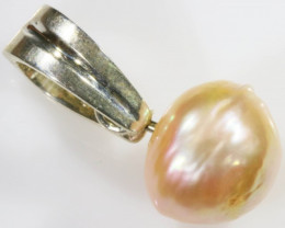 Natural Apricot Pearl PENDANT SB 440