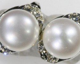 8 mm French Clip Natural Pearl Earrings PPP 1238