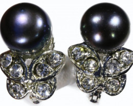 French clip 8 mm Pearl Earrings PPP 1237