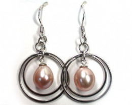 NATURAL PEARL EARRINGS SET RL34