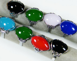 RESELLERS DEAL 8 QUARTZ DYED COLOURS RINGS AAT 806