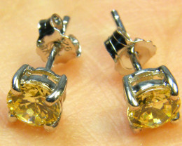 STERLING CITRINE RSILVER STYLISH EARRINGS AG 1592