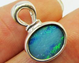 Doublet Opal set in Silver Pendant PL 815