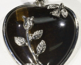 Tigers eyes heart pendant PPP1206