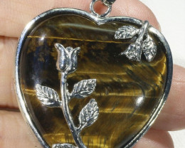 Tigers eyes heart pendant PPP1209