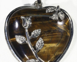 Tigers eyes heart pendant PPP1210