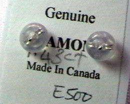 1.43 CTS BLACK DIAMOND EARRINGS 14K  SG-1041