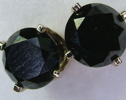 1.43 CTS BLACK DIAMOND EARRINGS 14K  SG-1041