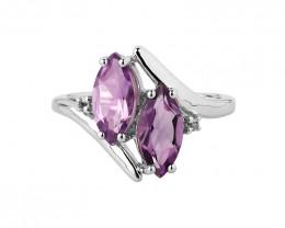 Amethyst 925 Sterling silver ring #477