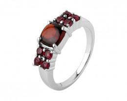Garnet 925 Sterling silver ring #497