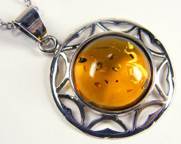 BALTIC HONEY AMBER SILVER PENDANT 21 TCW MYG 972