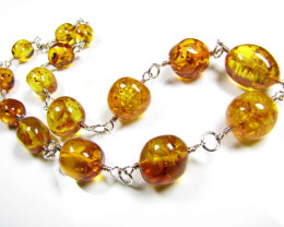 BALTIC AMBER BEAD NECKLACE 50 CM LENGTH MYG 425