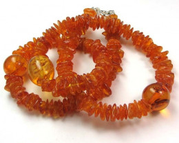 76 CTS NATURAL BALTIC AMBER NECKLACE 44 CM MGMG 238