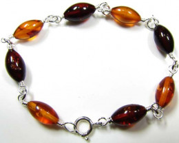 BALTIC BEAD AMBER SILVER BRACLET 23 TCW MYG 715