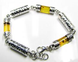 Bracelets Silver Chain SizeBALTIC AMBER SILVER TUBULAR BRACLET LENGTH 19 CM