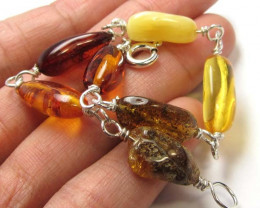 24 NATURAL BALTIC AMBER BRACELET MGMG 219
