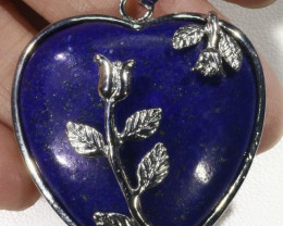 Heart Shape lapis lazuli pendant PPP1200