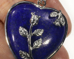 Heart Shape lapis lazuli pendant PPP1198