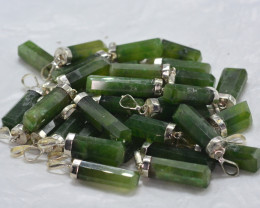 38 PCS OF NATURAL GROSSULAR PENDENTS WITH SILVER